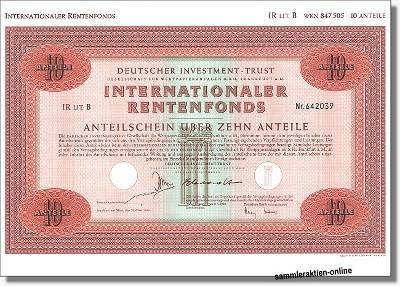 Deutscher Investment Trust - DIT IR