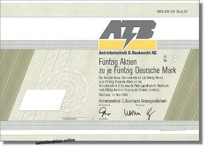 ATB - Antriebstechnik G. Bauknecht AG
