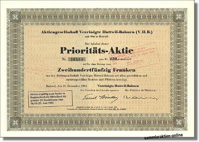 Aktiengesellschaft Vereinigte Huttwil-Bahnen