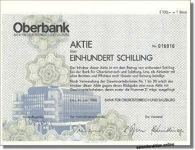 Oberbank AG - Bank für Österreich und Salzburg