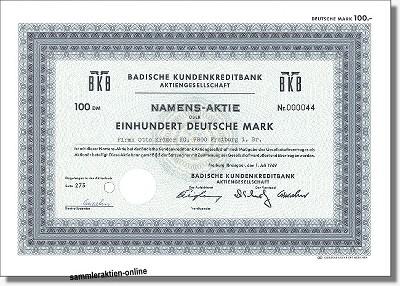 Badische Kundenkreditbank AG - BKB
