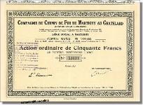 Compagnie du Chemin de Fer de Martigny au Chatelard