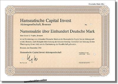 Hanseatische Capital Invest Aktiengesellschaft