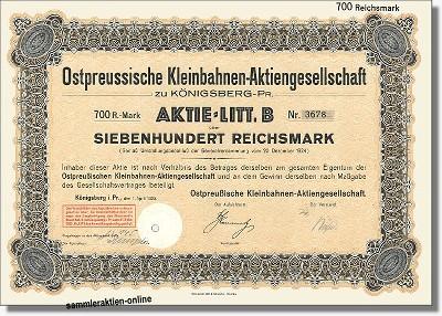 Ostpreussische Kleinbahnen-Aktiengesellschaft