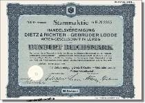 Handelsvereinigung Dietz & Richter - Gebrüder Lodde AG
