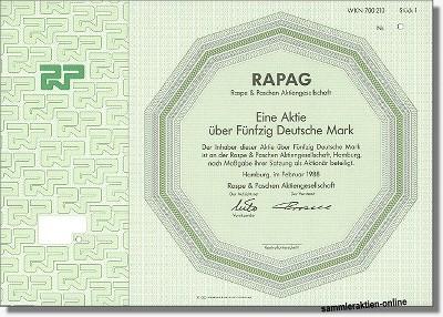 RAPAG - Raspe & Paschen Aktiengesellschaft