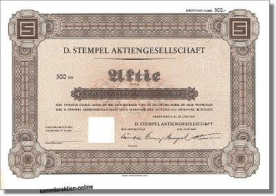 D. Stempel Aktiengesellschaft