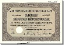 AEG Allgemeine Elektrizitäts-Gesellschaft