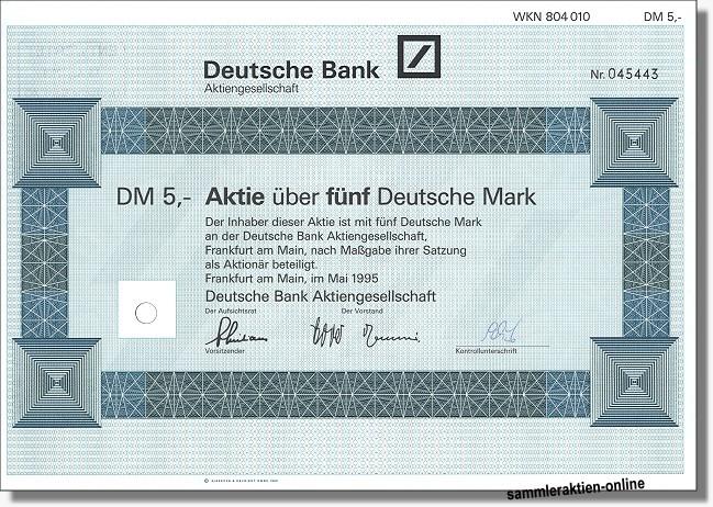 Deutsche Bank Aktie News