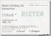 Rieter Holding AG