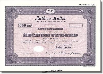 Matheus Müller Kommandit-Gesellschaft auf Aktien