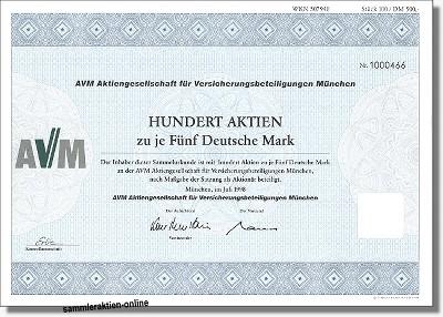 AVM Aktiengesellschaft für Versicherungsbeteiligungen