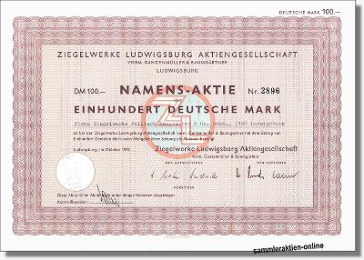 Ziegelwerke Ludwigsburg AG vorm. Ganzenmüller & Baumgärtner