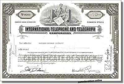 ITT - International Telephone & Telegraph Corporation
