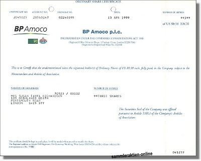 BP Amoco plc - Britisch Petroleum Company