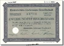 Elektricitäts-Lieferungs-Gesellschaft - AEG