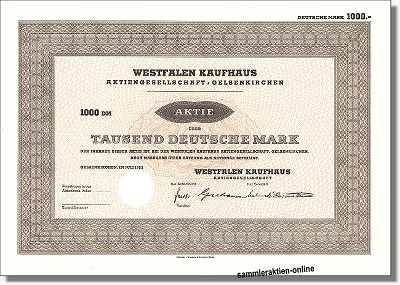 Westfalen Kaufhaus Aktiengesellschaft