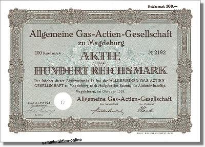 Allgemeine Gas-Actien-Gesellschaft zu Magdeburg