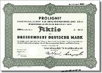 Prolignit AG für Braunkohleveredelung Köln