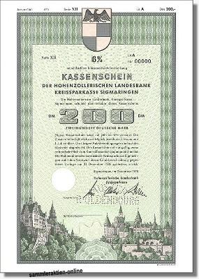 Hohenzollerische Landesbank, Kreissparkasse Sigmaringen