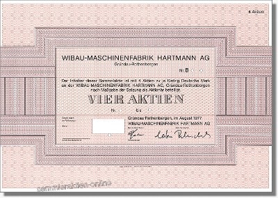 Wibau-Maschinenfabrik Hartmann AG