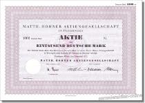 Matth. Hohner Aktiengesellschaft