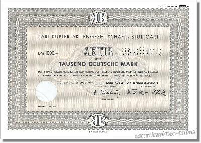Karl Kübler Aktiengesellschaft