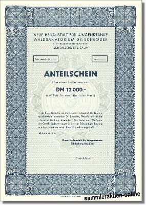 Neue Heilanstalt für Lungenkranke Waldsanatorium Dr. Schröder
