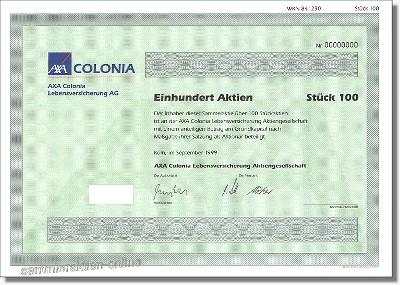 AXA Colonia Lebensversicherung Aktiengesellschaft