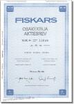 FISKARS Osakekirja Aktiebrev