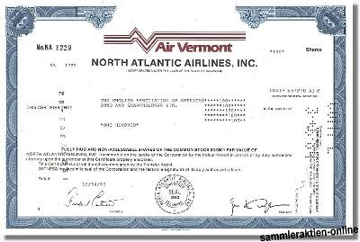 Air Vermont - North Atlantic Airlines Inc.