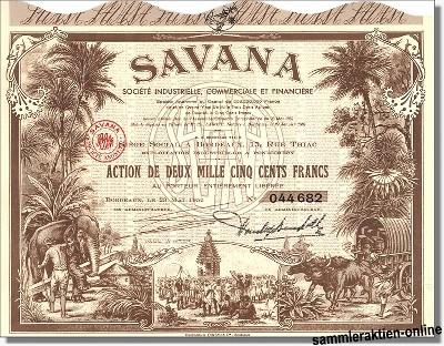 Savana, Societe Industrielle, Commerciale et Financiere