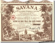Savana, Societe Industrielle, Commerciale et Financiere