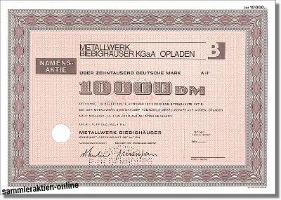 Metallwerk Biebighäuser KGaA