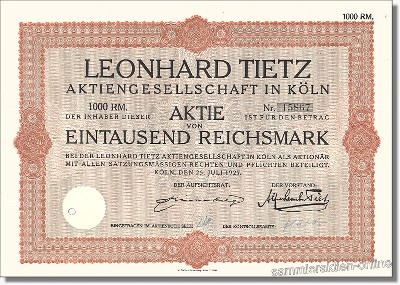 Leonhard Tietz Aktiengesellschaft - Kaufhof