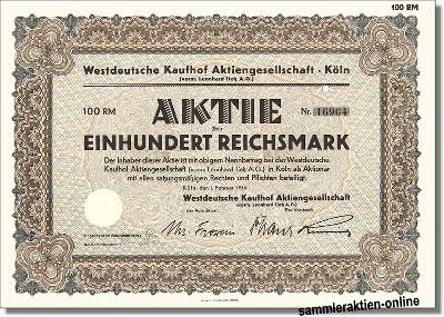 Westdeutsche Kaufhof Aktiengesellschaft