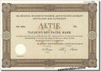 Fr. Hesser Maschinenfabrik-Aktiengesellschaft