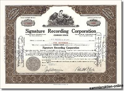 Signature Recording Corporation
