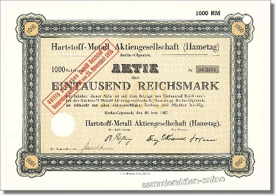 Hartstoff-Metall Aktiengesellschaft (Hametag)