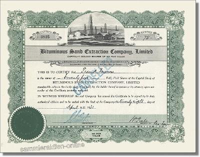 Bituminous Sand Extraction Company