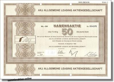 AKJ Allgemeine Leasing AG