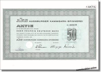 AKS Augsburger Kammgarn-Spinnerei AG