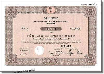 Albingia Versicherungs-Aktiengesellschaft - AXA