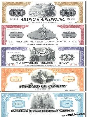 Geschenkset weltbekannte Firmen aus USA - Nr.6 - 5 div. Papiere