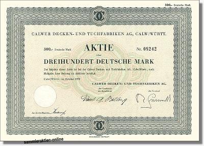 Calwer Decken und Tuchfabriken AG