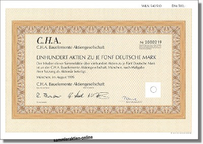 C.H.A. Bauelemente AG