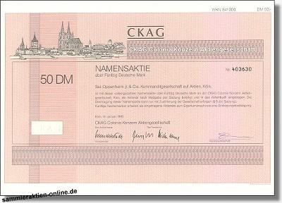 CKAG Colonia Konzern Aktiengesellschaft