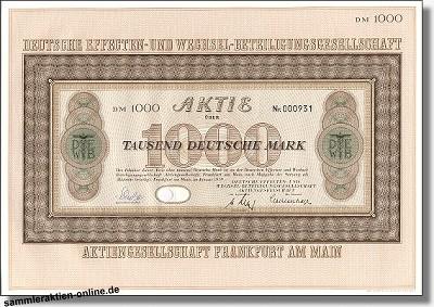 Deutsche Effecten und- Wechsel-Beteiligungsgesellschaft AG