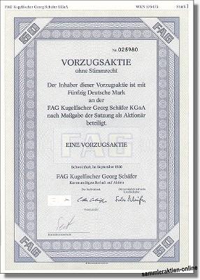 FAG Kugelfischer Georg Schäfer KGaA