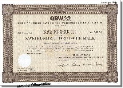 Gemeinnützige Bayerische Wohnungsgesellschaft GBWAG